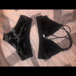 velvet bralette and panty set